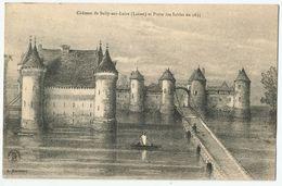 CPA [45] Loiret > Château De Sully Sur Loire Et Porte Des Sables En 1635 - Sully Sur Loire