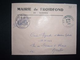 LETTRE MAIRIE OBL.24-4 1965 85 FROIDFOND VENDEE - Marcofilia (sobres)