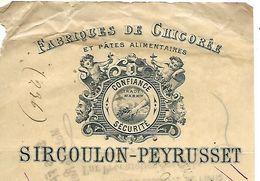 2 Traites 1897 / 25 AUDINCOURT /  SIRCOULON-PEYRUSSET / Fabrique De Chicorée - Bills Of Exchange