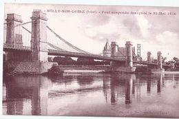 CPA Cartonnée Glacée [45] Loiret > Le Pont Suspendu - Sully Sur Loire