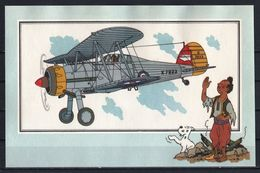 """Tintin : Chromo """" Voir Et Savoir """" Par Hergé : Aviation Guerre 1939-1945 : N° 1 Editions CASTERMAN. - Trade Cards"""