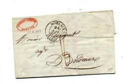 Lettre Cachet Morlaix 6 Decimes  + Nantes Rennes - 1801-1848: Précurseurs XIX