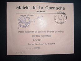 LETTRE MAIRIE OBL.15-11 1969 LA GARNACHE VENDEE (85) - Marcofilia (sobres)