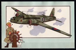 """Tintin : Chromo """" Voir Et Savoir """" Par Hergé : Aviation Guerre 1939-1945 : N° 4 Editions CASTERMAN. - Autres"""