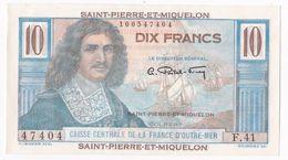 Saint Pierre Et Miquelon 10 Francs COLBERT (1950-1960), Alphabet F 41 N° 47404. Neuf - Frankrijk