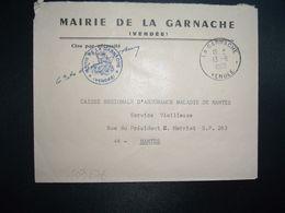 LETTRE MAIRIE OBL.13-8 1969 LA GARNACHE VENDEE (85) - Marcofilia (sobres)