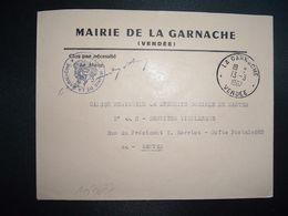 LETTRE MAIRIE OBL.13-3 1967 LA GARNACHE VENDEE (85) - Marcophilie (Lettres)