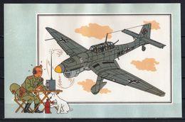"""Tintin : Chromo """" Voir Et Savoir """" Par Hergé : Aviation Guerre 1939-1945 : N° 16 Editions CASTERMAN. - Autres"""