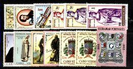 CAPE VERDE, 1953/68, NICE GROUP OF 8 SETS, CE#280/328, CV - 23,5€, MNH - Cap Vert