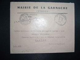 LETTRE MAIRIE OBL.3-9 1964 LA GARNACHE VENDEE (85) - Marcophilie (Lettres)