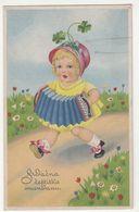 Girl With Accordion Old Croatian Name Day Greetings Postcard Unused B200701 - Enfants