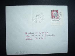 LETTRE TP M. DE DECARIS 0,25 COIN DE DEMI FEUILLE OBL.19-3 1962 LA GARNACHE VENDEE (85) - 1960 Maríanne De Decaris