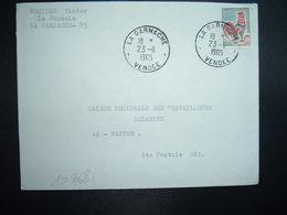 LETTRE TP COQ DE DECARIS 0,30 OBL.23-11 1965 LA GARNACHE VENDEE (85) MERIEAU Victor - Marcophilie (Lettres)