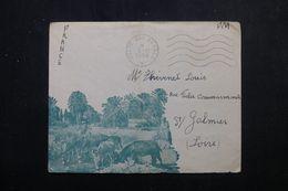 FRANCE / ALGÉRIE - Enveloppe Illustrée En FM ( SP 82.103 ) Pour St Galmier En 1956 -  L 64411 - Guerra De Argelia