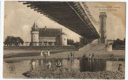CPA [45] Loiret > Château De Sully Sur Loire - Baignade à Un Coin De La Plage Sous Le Pont Suspendu - Sully Sur Loire