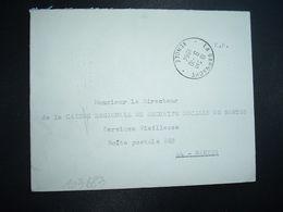 LETTRE OBL.9-10 1964 LA GARNACHE VENDEE (85) MICHEL AMELINEAU Notaire - Marcofilia (sobres)