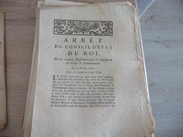 Arrêt Du Conseil D''Etat Du Roi 27/02/1780 Règlement Pour Les Impositions Des Corps Et Communautés - Decrees & Laws