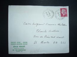 LETTRE TP M. DE CHEFFER 0,40 OBL.19-9 1970 85 LA GARNACHE VENDEE Claude GILLET CHAUFFAGE CENTRAL PLOMBERIE - Marcofilia (sobres)