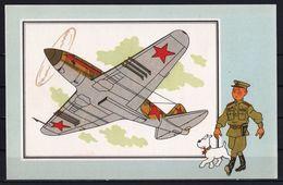 """Tintin : Chromo """" Voir Et Savoir """" Par Hergé : Aviation Guerre 1939-1945 : N° 35 Editions CASTERMAN. - Autres"""
