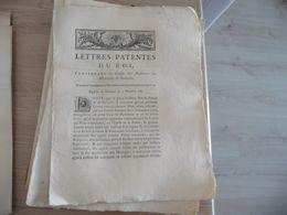 Lettres Patente Du Roi 03/12//1782 Causes Et Audiences Des Mercredis Et Samedis - Decrees & Laws
