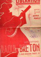 "(guerre 39-45))  Partition ""petit Format"" LIBERATION 1944-45  (anna Marly) (MPA PF 152) - Música & Instrumentos"