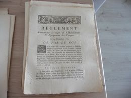 Règlement Concernant La Régie De L'Habillement Et équipement Des Troupes 19/12/1784 - Decrees & Laws