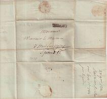 """FRANCE : MARQUE POSTALE . """" L' HOPITAL """" . ( SAVOIE ) . 28/10/1814 . - 1801-1848: Précurseurs XIX"""