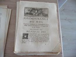 Ordonnance Du Roi 19/12/1784 Fixation Administration De La Masse  L'habillement Des Troupes - Decrees & Laws