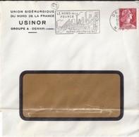 "59 - NORD - DENAIN  - 1959 -  ENTETE ""USINOR/GROUPE A  DENAIN"" - Marcophilie (Lettres)"