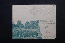 FRANCE / ALGÉRIE - Enveloppe Illustrée En FM Pour St Galmier En 1956 -  L 64413 - Guerra De Argelia