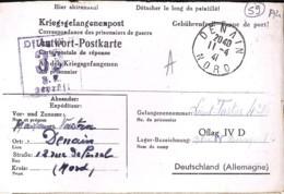 59 . NORD . DENAIN . TàD De Type A4 . 1941/42 - Marcophilie (Lettres)