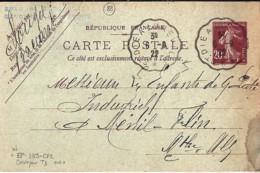 88 - VOSGES - ST DIE A LUNEVILLE TàD De TYPECCL3 De 1922/23 - Marcophilie (Lettres)