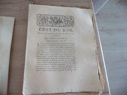 Edit Du Roi 22/08/1786 Révocation Privilège De Ville D'arrêt Personnel - Decrees & Laws