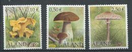 265 - ALAND 2003 - Yvert 214/16 - Champignon - Neuf ** (MNH) Sans Trace De Charniere - Ålandinseln