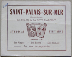 Saint-Palais-sur-Mer (Charente-Maritime), Dépliant Touristique - Dépliants Touristiques