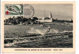 CARTE MAXIMUM 1963 CHAMPIONNATS DU MONDE DE SKI NAUTIQUE à VICHY ALLIER - Maximum Cards