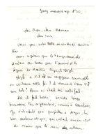 Lettre Manuscrite 1977 Jouy Papa Maman Famille Mr Maitre Roger Etrelat - Manuscrits