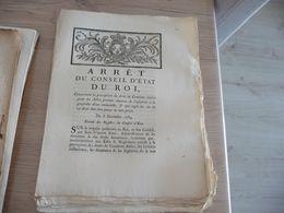 Arrêt Du Conseil Du Roi 08/12/1784 Perception Du Droit Dernier .... - Decrees & Laws