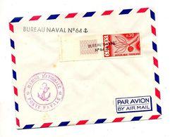Lettre  Cachet Annulation Bureau Naval N ° 64 Sur Europa + Marine Nationale - Marcophilie (Lettres)