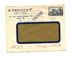 Lettre Flamme Paris Protection Civil Sur Uzerche - Marcophilie (Lettres)