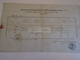 D172623 Old Document -Hungary  HEVES  1865 - András József Sztankovics 1846 - Szentmáriay Dionisius - Ohne Zuordnung