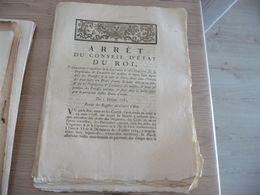 Arrêt Du Conseil Du Roi 03/02/1782 Imposition Capitation Propriétaire Et Locataire.... - Decrees & Laws