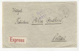 Austria Letter Cover Posted Express 1916 Windisch-Feistritz (Slovenska Bistrica) To Petau (Ptuj) *b200701 - Slovenia