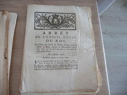 Arrêt Du Conseil Du Roi 03/01/1782 Paiement Droit Chevaux Poulains Juments... - Decrees & Laws