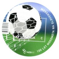 3333 Slowenien Slovenia  2020  ** MNH Unusual Round Block 100 Years Football Soccer Fußballverband - Slovenia