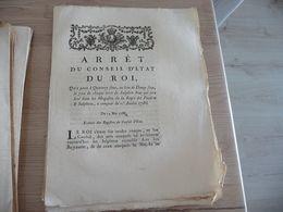 Arrêt Du Conseil Du Roi 14/05/1786 Qui Porte à 14 Sous Le Droit Du Salpêtre... - Decrees & Laws