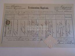 D172624 Old Document - Croatia Sziszek, Sisak, Siscia - Franciscus Wöber Vöber  1844 - Malasic - 1870 - Nacimiento & Bautizo