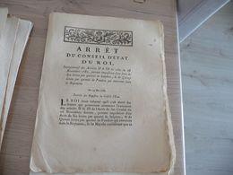 Arrêt Du Conseil Du Roi 14/05/1786 Imposition Du  Du Salpêtre... - Decrees & Laws