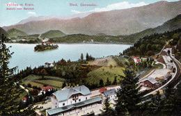 SLOVENIA : BLED - GORENSKO / VELDES In KRAIN / ANSICHT Vom BAHNHOF / GARE / TRAIN STATION - ANNÉE / YEAR ~ 1910 (ae312) - Slovenia