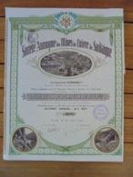 ITALIE - SA DES MINES DE CUIVRE DE SARDAIGNE - OBLIGATION DE 250 FRS - NANTES 1915 - Hist. Wertpapiere - Nonvaleurs